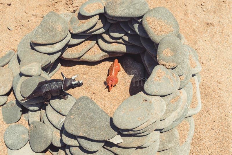 Children& x27 δεινόσαυρος παιχνιδιών του s στοκ φωτογραφία με δικαίωμα ελεύθερης χρήσης