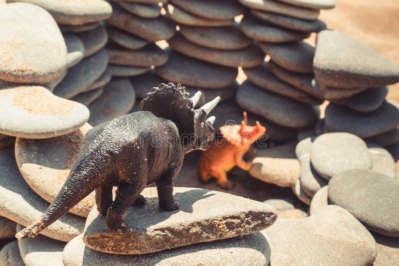 Children& x27 δεινόσαυρος παιχνιδιών του s στοκ φωτογραφίες