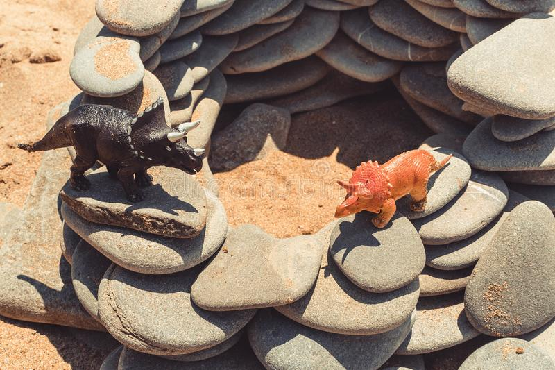 Children& x27 δεινόσαυρος παιχνιδιών του s στοκ φωτογραφίες με δικαίωμα ελεύθερης χρήσης