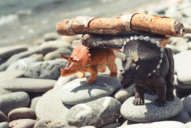 Children& x27 δεινόσαυρος παιχνιδιών του s στοκ εικόνες