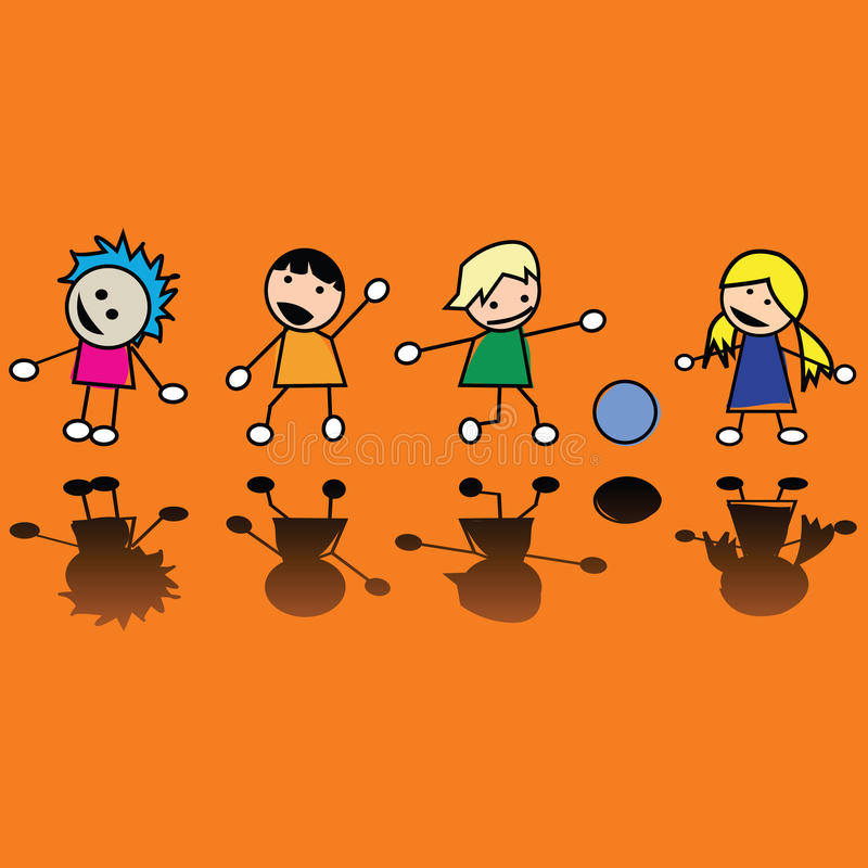 Download Children stock vector. Image of group, people, friendship - 10914840