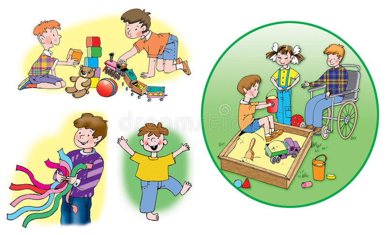 Download Children stock illustration. Image of baby, girl, sandbox - 17796492