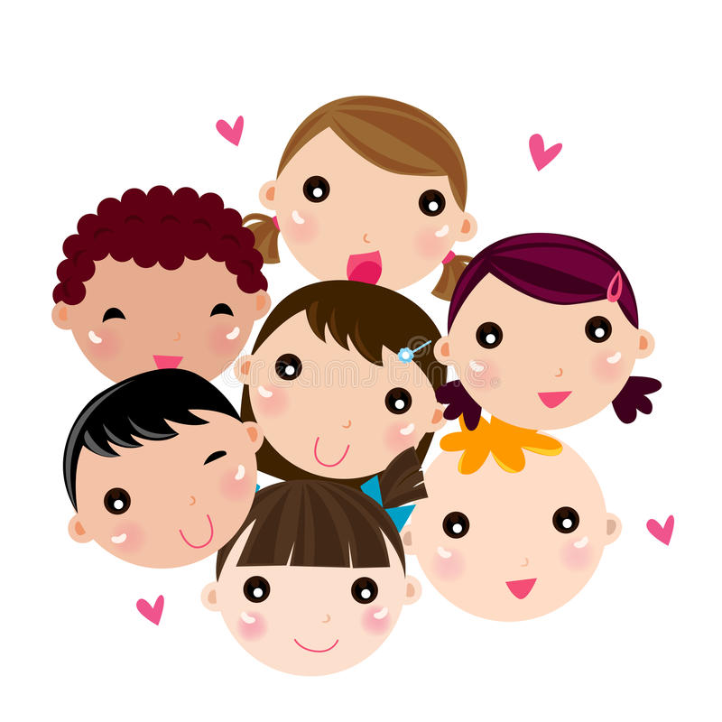 Download Children stock vector. Image of mien, group, illustration - 22045091