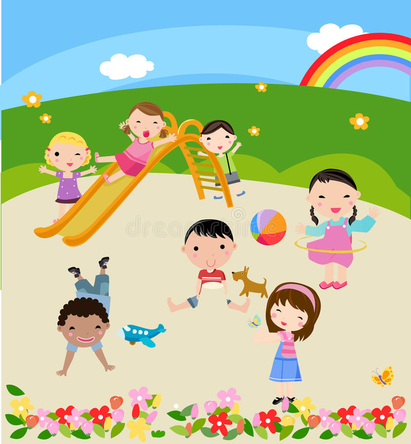 Download Children stock vector. Illustration of playing, illustrated - 22045229