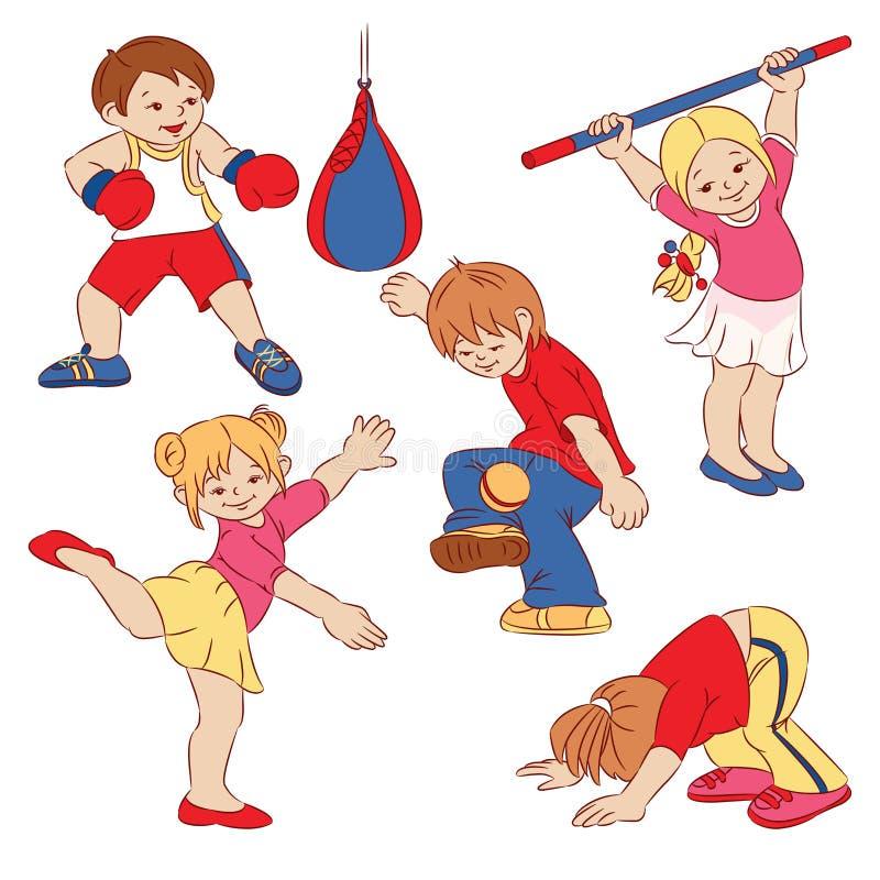 Download Children stock illustration. Image of sport, cartoon - 23538905