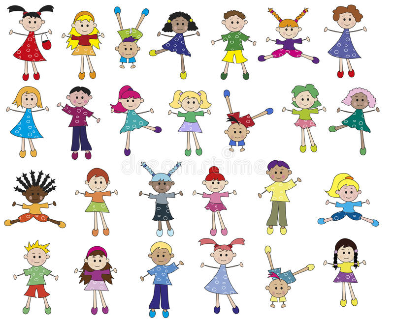 Download Children stock illustration. Image of illustration, ethnicity - 27958176