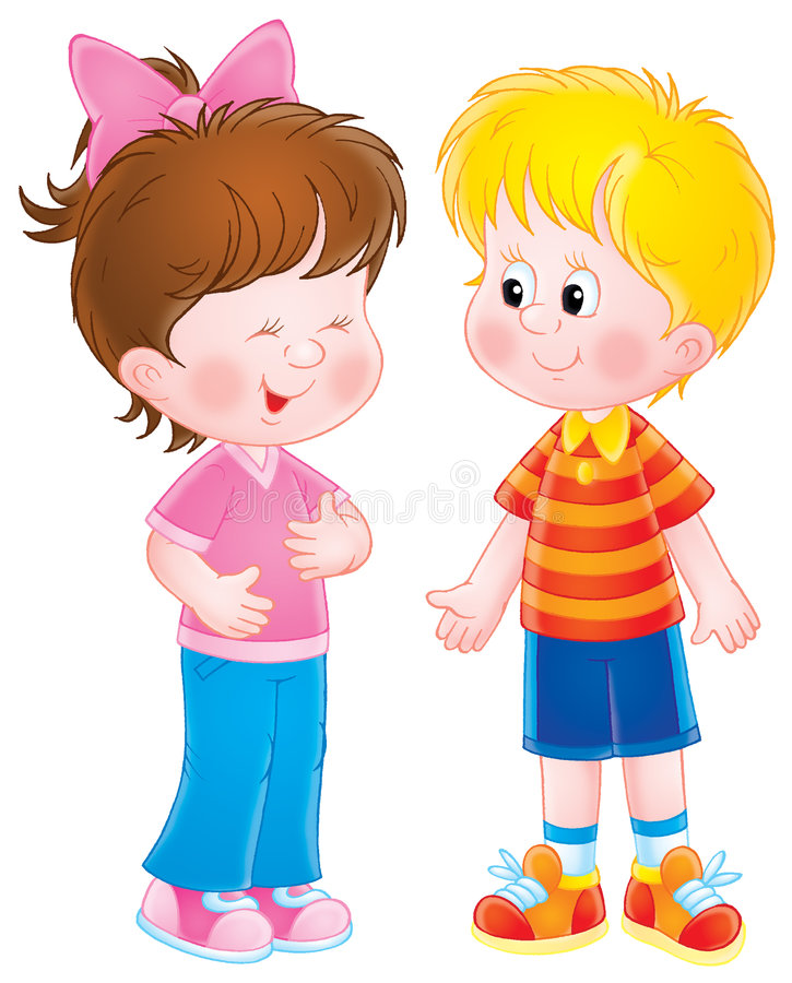 Children. Isolated clip-art / children's book illustration for your design