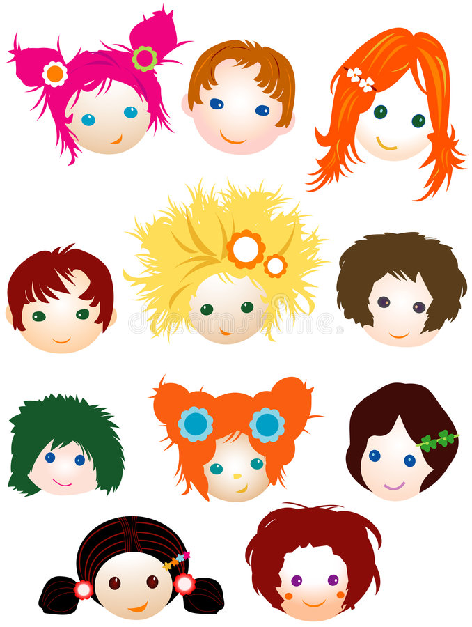 Download Children stock vector. Image of family, eyes, color, girl - 5854243