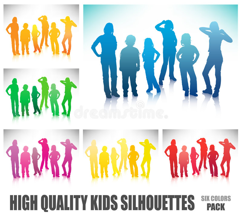 Children. Vector illustration of children silhouettes vector illustration
