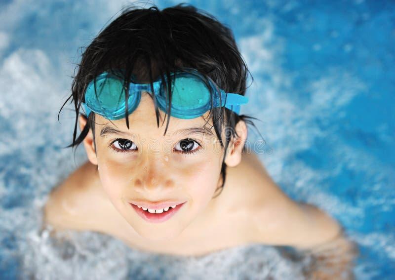 Children Activities In Pool Royalty Free Stock Image