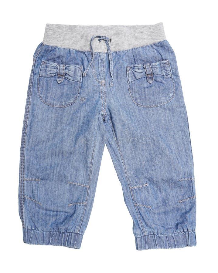 Children błękitni spodnia fotografia stock