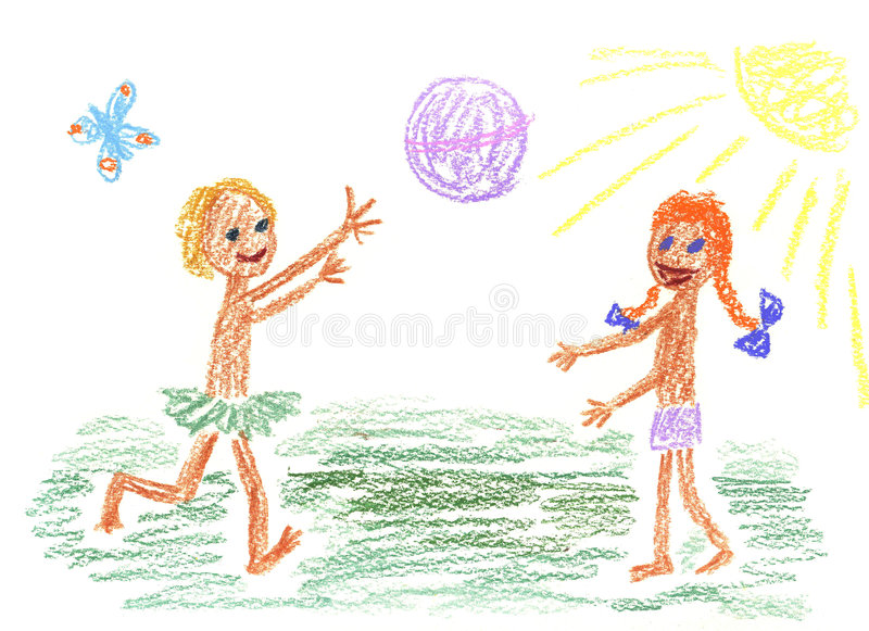 Children and ball royalty free illustration
