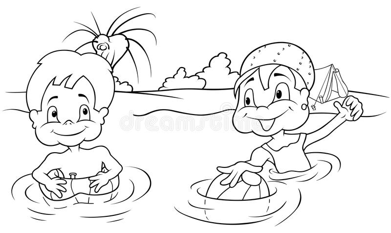 Download Children Bathing stock vector. Image of isolated, clipart - 18047273