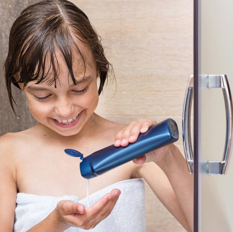 Children in bathroom royalty free stock photography