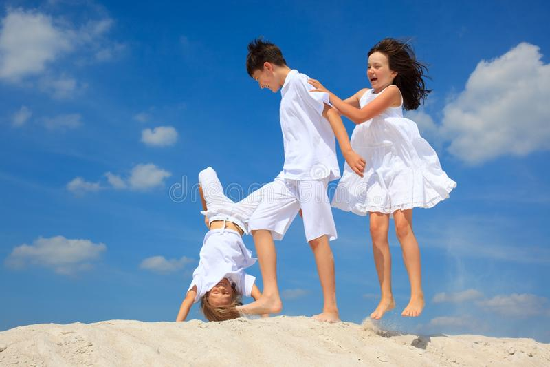 Download Children on beach stock photo. Image of summer, blue - 11448280