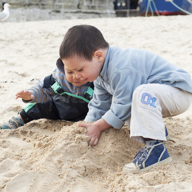 Download Children On Beach Stock Photography - Image: 27127792