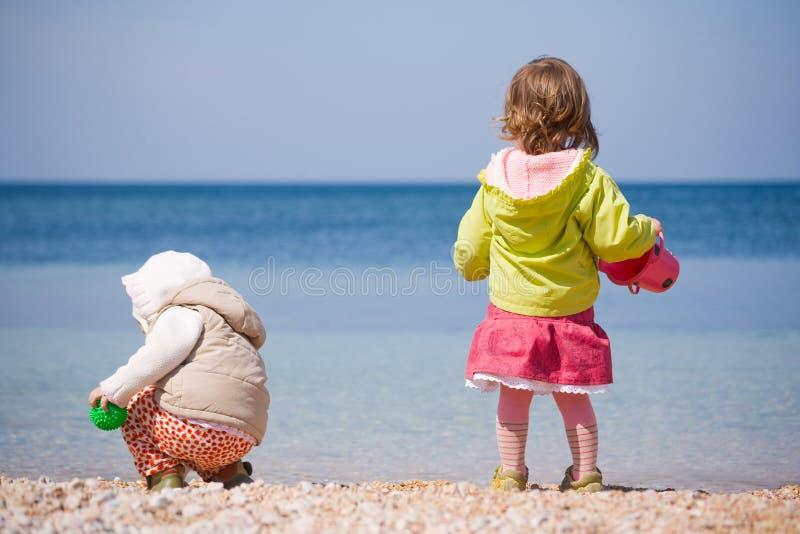 Download Children at beach stock image. Image of coastline, ripples - 5140195