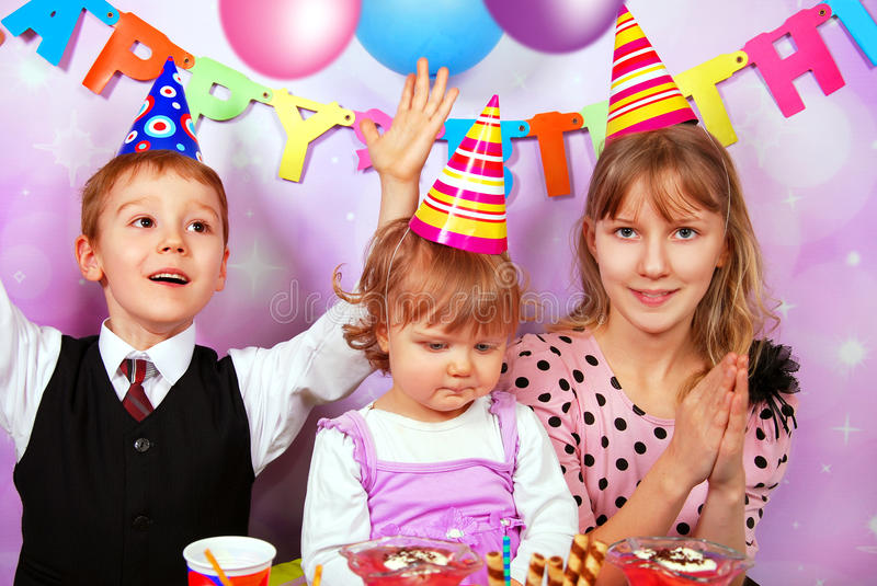 Download Children on birthday party stock photo. Image of caucasian - 29213486
