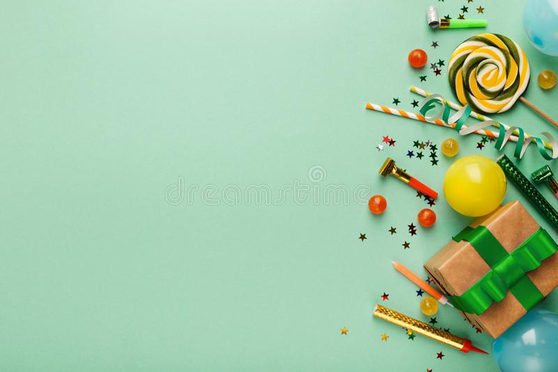 Children birthday party background stock photography