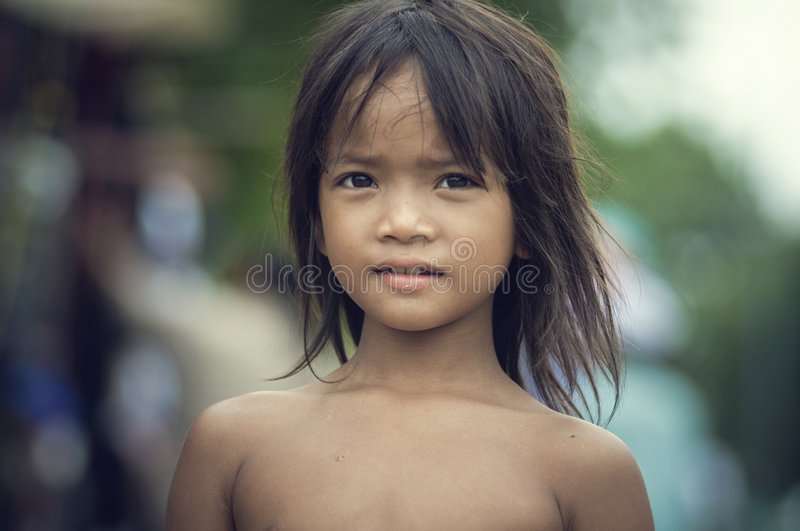 Children from Cambodia royalty free stock photo