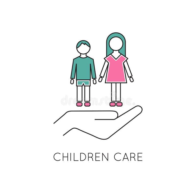 Free Children Care Line Icon Royalty Free Stock Photo - 84645265