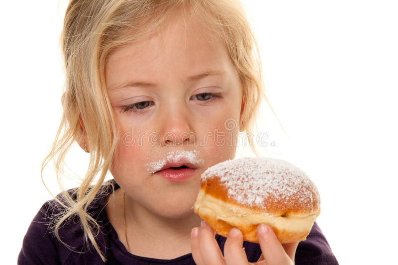 Child with donut.