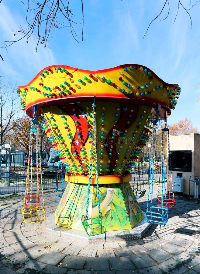 Children Carousel obrazy stock