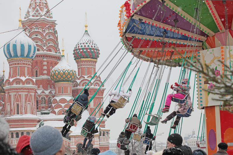 Carousel on Red Square, Moscow royalty free stock photography