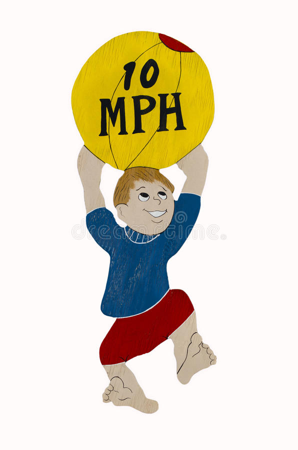 Download Children Caution 10 Mph Sign Ball Stock Photo - Illustration of limit, isolated: 27763862