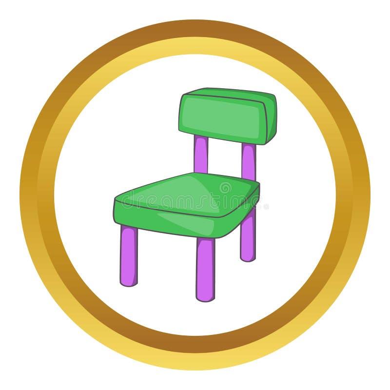 Children chair icon stock illustration