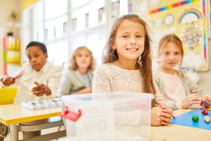 Children in the classroom in preschool royalty free stock photography