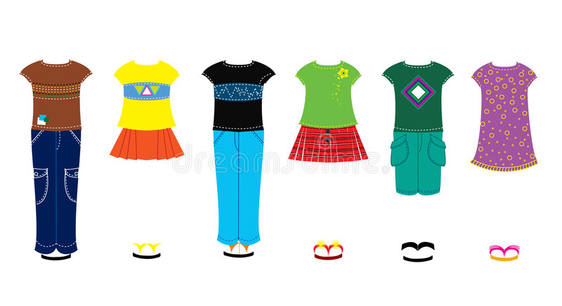 Children clothes stock photography