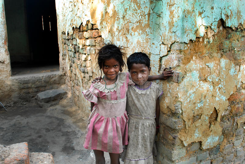 Children At The Coalfield Area. In Jharia many children work in the coal industry as pickers to earn money for their families. The children do not go to school royalty free stock photos