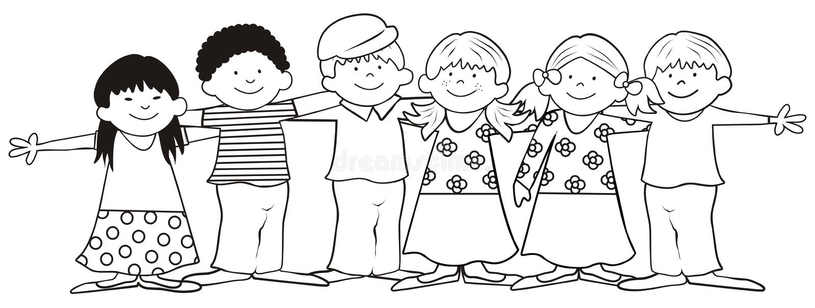 Children-coloring book stock vector. Illustration of dress - 31866030