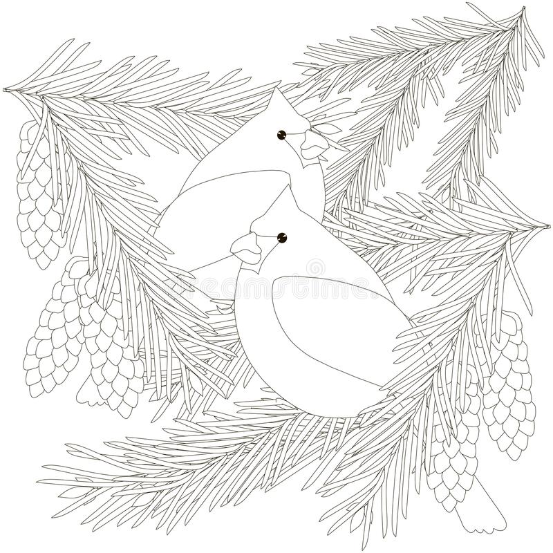Children Coloring Page Bird Stock Vector - Illustration of ...