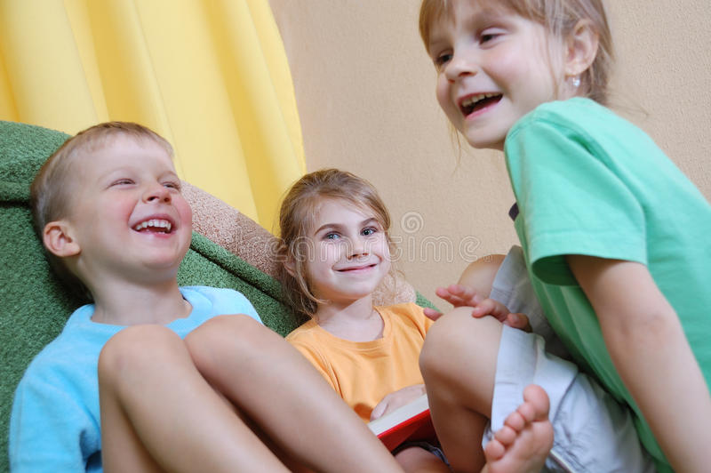 Download Children communicating stock photo. Image of floor, books - 12734348