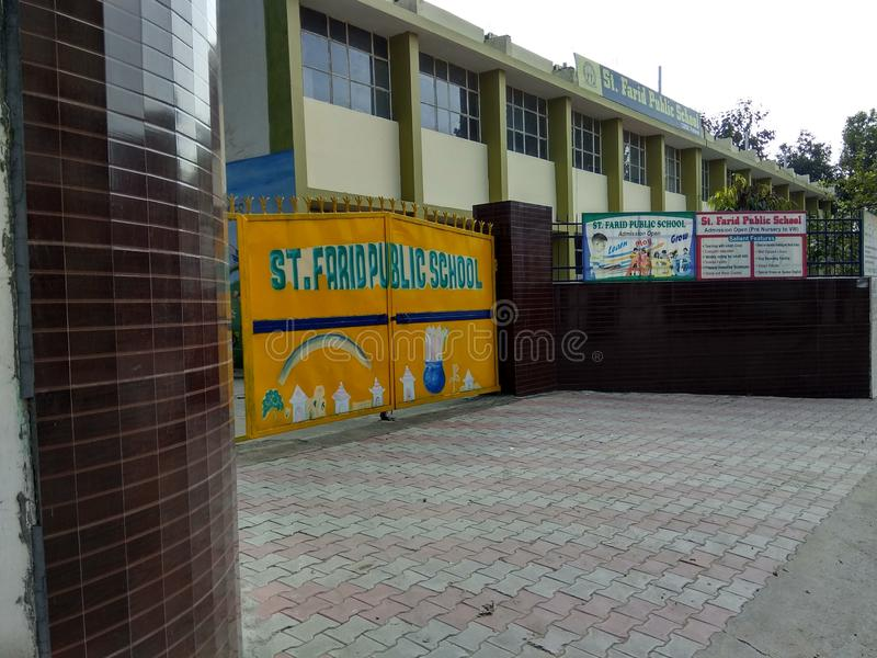 Children Convent School in Sector 59 Mohali Punjab India. A Convent SCHOOL in Sector 59 Mohali Punjab India after school time stock image