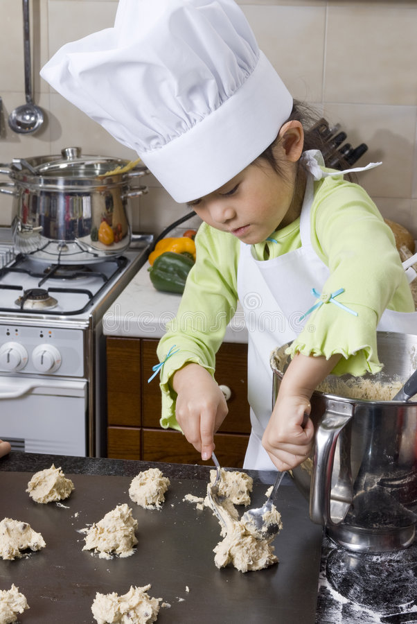Download Children Cooking stock photo. Image of learning, female - 7676674