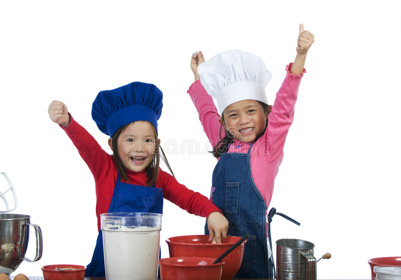 Download Children Cooking stock image. Image of food, female, chinese - 8193949