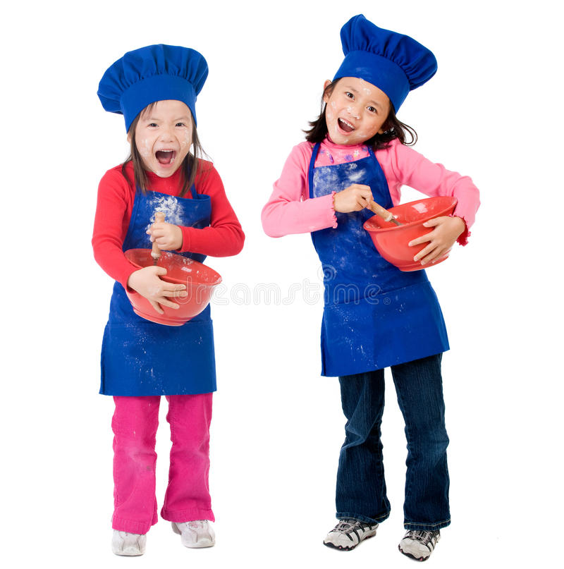 Children Cooking stock photos