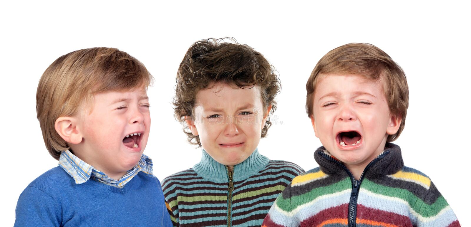 Children crying royalty free stock image