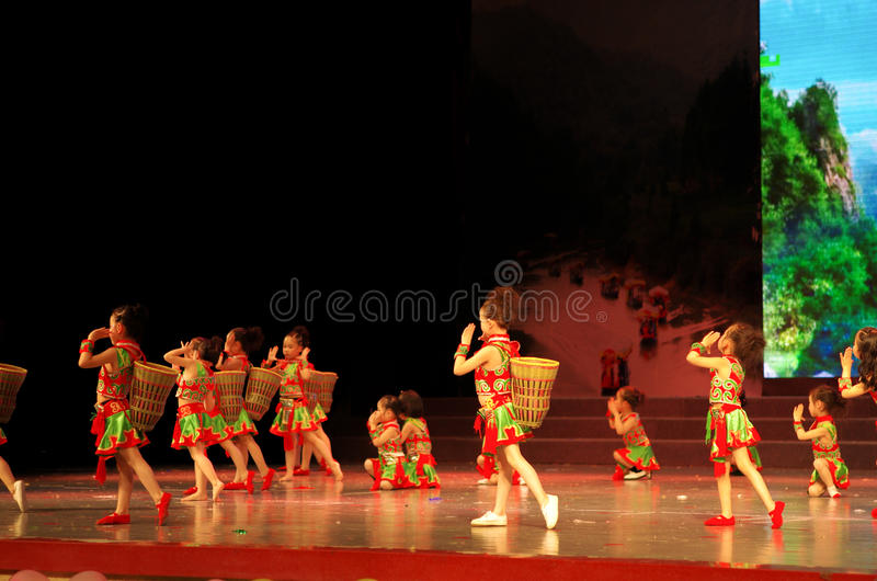 Children dancing royalty free stock image