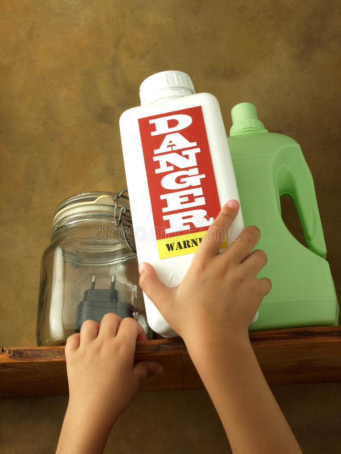 Accidental Poisoning In Children Royalty Free Stock Images