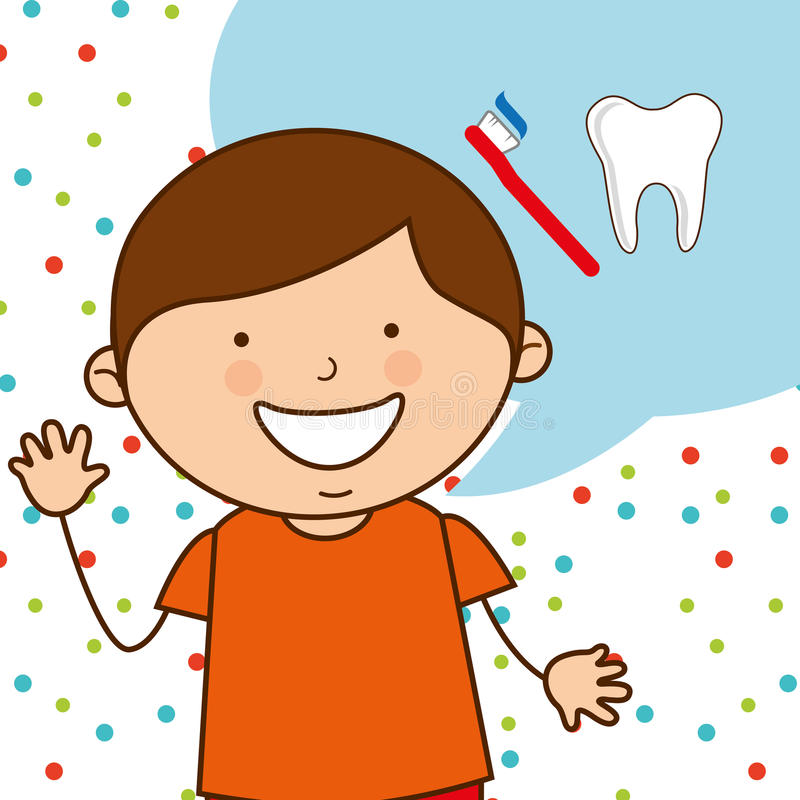 Children dental care royalty free illustration