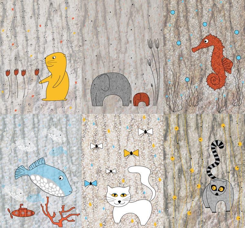 Download Children Design With Animals Stock Illustration - Image: 7158941