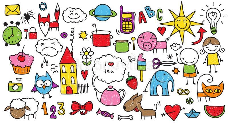Children doodle ilustracja wektor