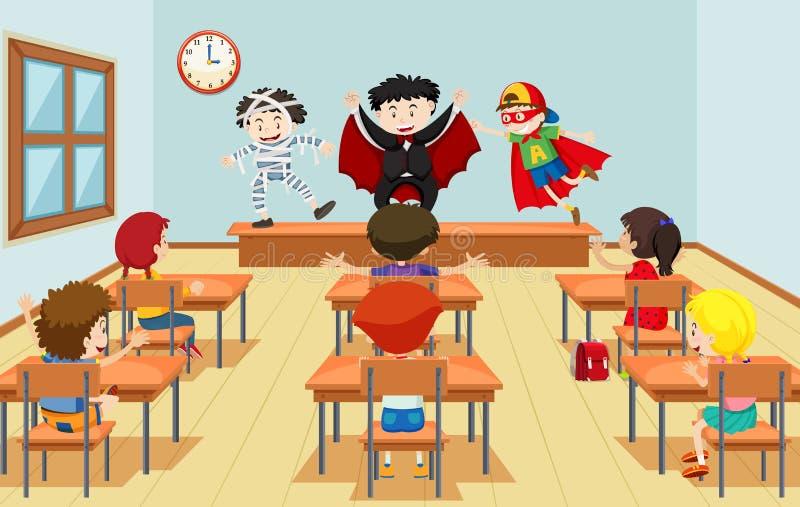 Children in drama class. Illustration stock illustration