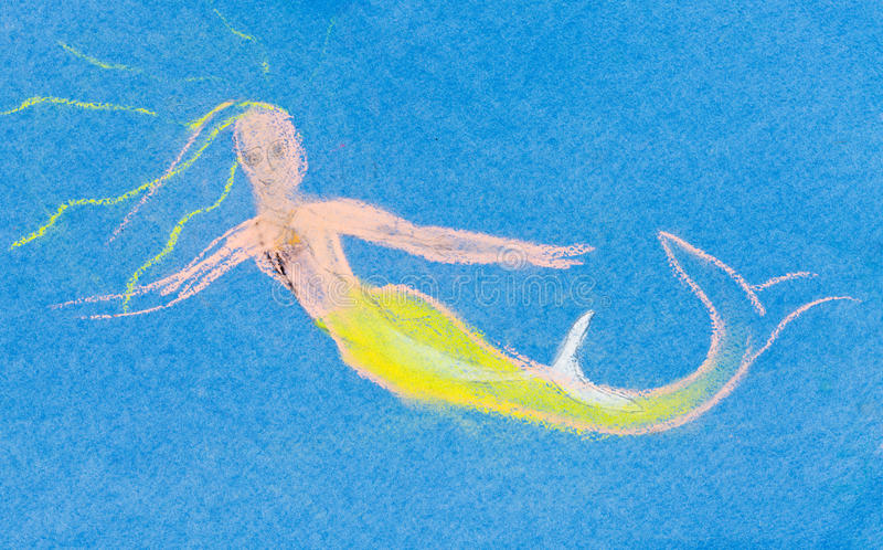 Children Drawing - Water Nymph Stock Illustration - Image ...