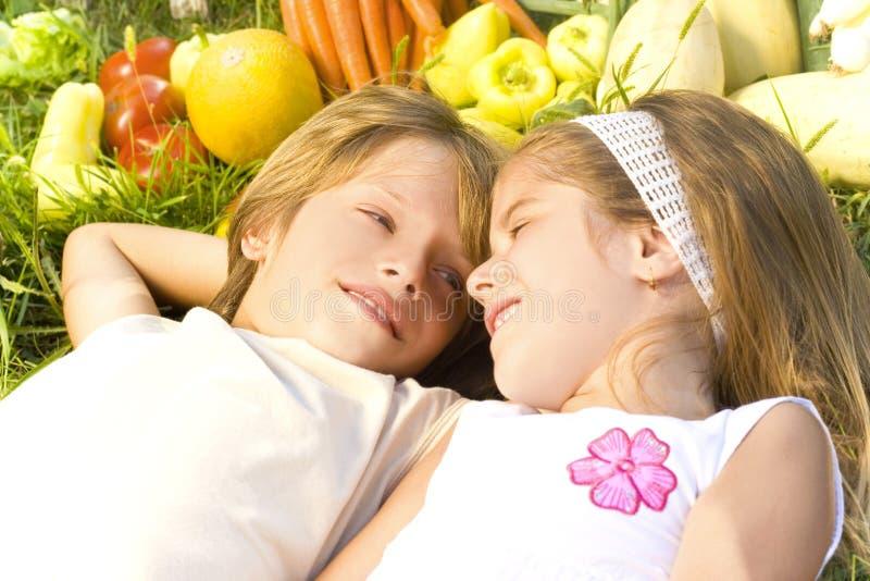 Children enjoy in the garden