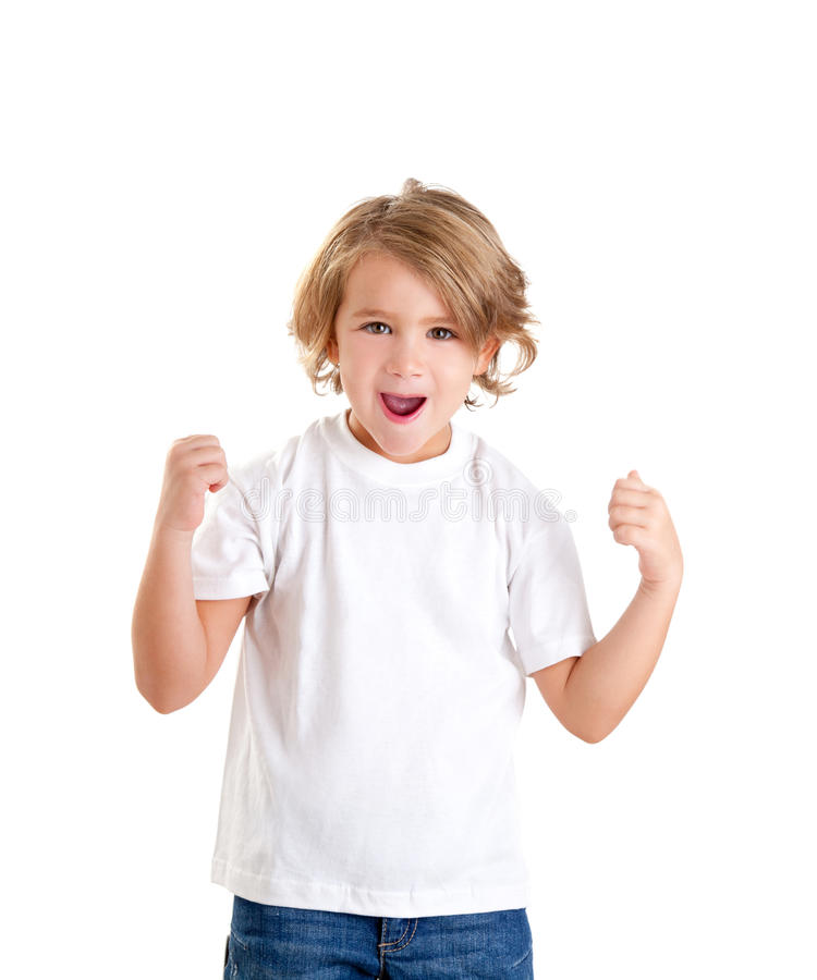 Download Children Excited Kid With Happy Winner Expression Stock Photo - Image: 23309712
